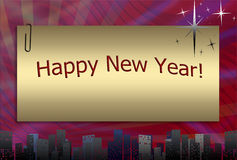 Happy New Year in Framework Royalty Free Stock Images