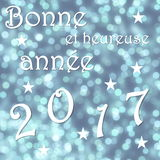 Happy new year 2017, french - 3D render Royalty Free Stock Image