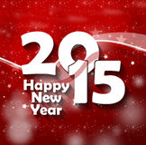 2015 Happy New Year. Fresh Creative Design Stock Photography