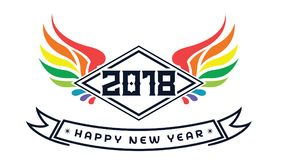 2018 Happy New Year. Fun 2018. Vector illustration. Banner. Poster. 2018 Happy New Year text for card for your design. Fun 2018. Vector illustration. Banner Stock Photography
