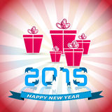 Happy New Year 2015 funny background Royalty Free Stock Photography