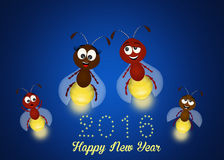 Happy new year. Funny illustration of happy new year Stock Images