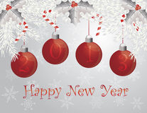 Happy New Year Garland with 2013 Ornaments Royalty Free Stock Photos