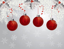 Happy New Year Garland with 2014 Ornaments Illustr Royalty Free Stock Images
