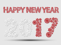 2017 happy new year gear. For web Stock Photography