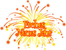 Happy_new_year_german Royalty Free Stock Photos