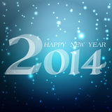 Happy new year in german. Happy New Year 2014 celebration background with shiny Royalty Free Illustration
