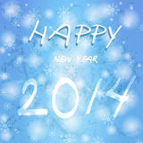 Happy new year in german. 2014 new year. Happy holidays background with snowflakes Stock Images