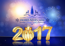 Happy New Year 2017 German language background Stock Photography