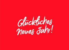 Happy New Year on German language Royalty Free Stock Image