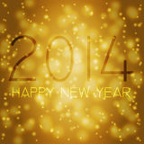 Happy new year in german. Numbers 2014 from snowflakes. Celebration background for your posters Royalty Free Stock Photos