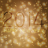 Happy new year in german. Numbers 2014 from snowflakes. Celebration background for your posters Stock Photo