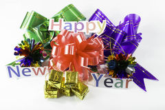 Happy New Year and a gift Royalty Free Stock Photos