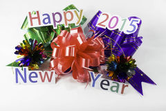 Happy New Year and a gift Royalty Free Stock Image