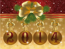 Happy New 2014 Year gift background Royalty Free Stock Images