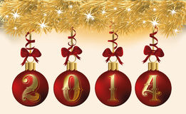 Happy New 2014 Year gift banner. Vector illustration Stock Photography