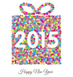 Happy new year 2015 gift. Card Royalty Free Stock Photography
