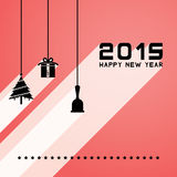 Happy new year 2015. Gift card Stock Photography