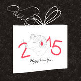 Happy new year gift card with goat. Happy new year background and greeting card design vector illustration