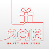 2016 Happy New Year gift. 2016 Happy New Year sewing style with gift Royalty Free Stock Photography
