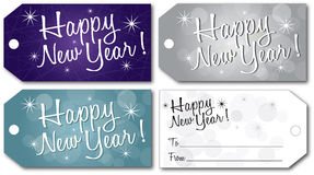 Happy new year gift tag vector Royalty Free Stock Photo