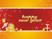 Happy New Year with gifts Stock Photo