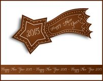 Happy New Year 2015 gingerbread comet Royalty Free Stock Image