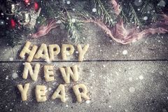 Happy New Year cookies Stock Images