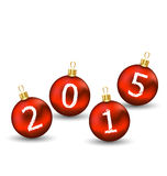 Happy new year in glass ball on white background Stock Image