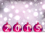 Happy New Year in glass balls Stock Image