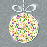 Happy New Year Glass Decoration Ball Royalty Free Stock Images