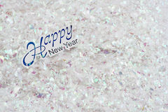 Happy new year glitter royalty free stock photography
