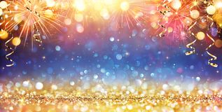 Happy New Year With Glitter stock photos