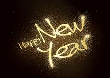 Happy New Year Glitter Greeting Card vector illustration