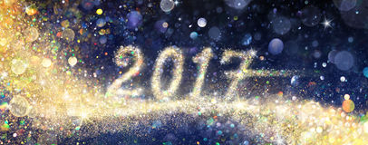 Happy New Year 2017 - Glittering stock photos