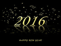 Happy New Year 2016 glod celebration background Royalty Free Stock Images
