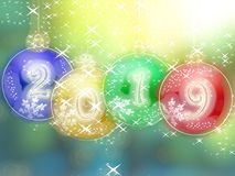 Happy New Year 2019 glowing background Stock Photo