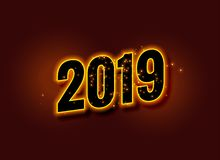 Happy new year glowing 2019 background. Vector vector illustration
