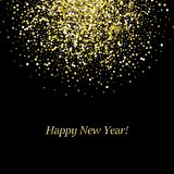 Happy New Year glowing background. Vector illustration stock illustration
