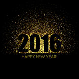 2016 Happy New Year glowing background.. Vector illustration EPS 10 Royalty Free Stock Photography