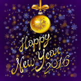 2016 Happy New Year glowing background. Vector illustration EPS 10. Art Stock Image