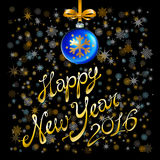 2016 Happy New Year glowing background. Vector illustration EPS 10. Art Stock Photo