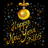 2016 Happy New Year glowing background. Vector illustration EPS 10. Art Royalty Free Stock Photography