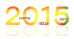 Happy new year 2015. Go to 2015 Royalty Free Stock Image