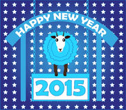 Happy new year 2015 of goat. Happy new year 2015 with goat Vector Illustration