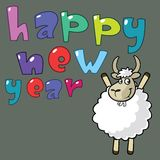 2015 Happy New Year. Goat Stock Photo