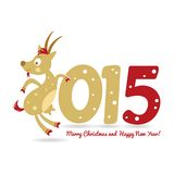 Happy New Year and goat symbol of the new year. Merry Christmas and a Happy New Year and goat symbol of the new year Stock Photo