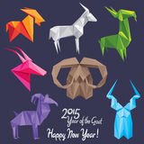 Happy New 2015 Year of the Goat! (+EPS) Stock Photos