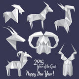Happy New 2015 Year of the Goat! (+EPS) Stock Image
