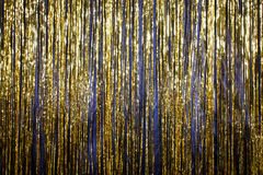 Happy New Year 2017 gold background tinsel.  Stock Images